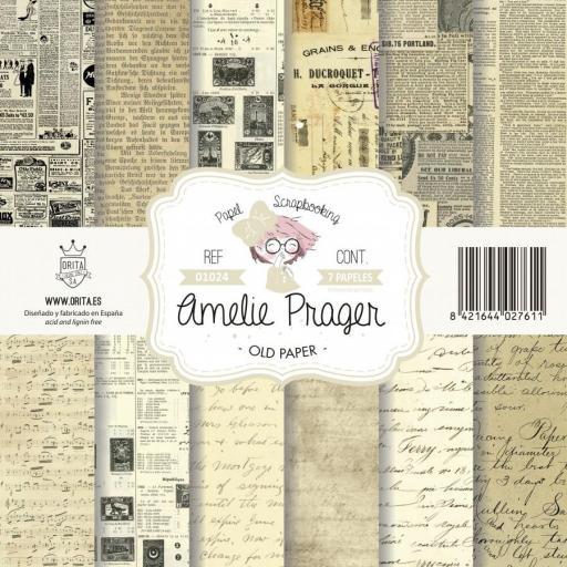 SET DE PAPELES OLD PAPER AMELIE