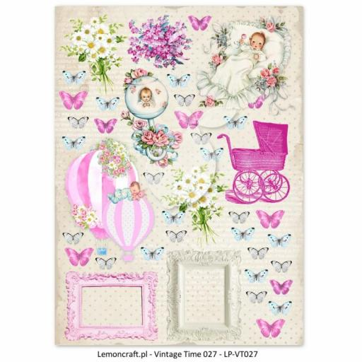 PAPEL VINTAGE TIME 027 LULLABY LEMONCRAFT