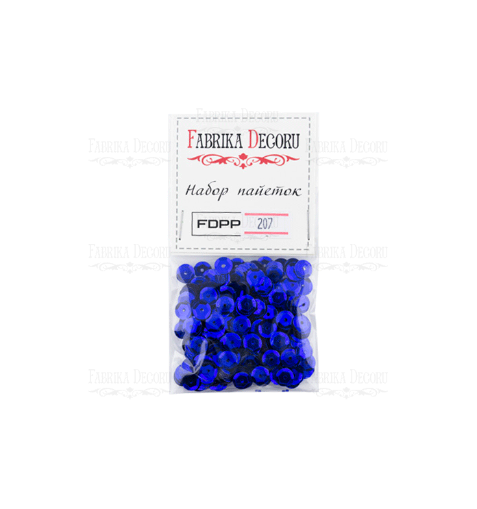PACK LENTEJUELAS METALLIC BLUE FABRIKA DECORU