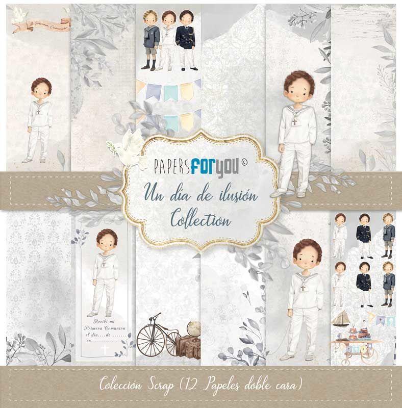 SET DE PAPELES UN DIA DE ILUSION NIÑO CASTAÑO PAPERS FOR YOU
