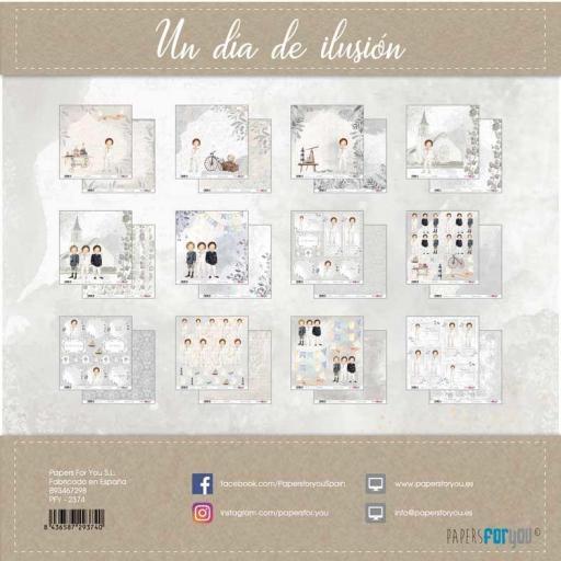 SET DE PAPELES UN DIA DE ILUSION NIÑO CASTAÑO PAPERS FOR YOU [1]