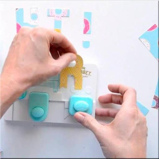 MINI ALPHABET PUNCH BOARD WE R MEMORY KEEPERS [1]