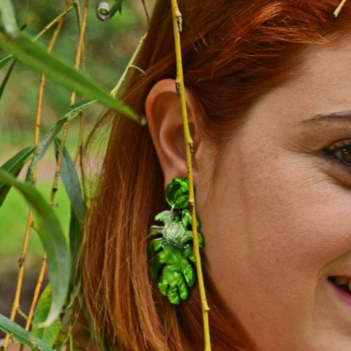 Pendientes Palm Green [2]