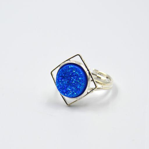 Anillo Candy Cuadrado Azul