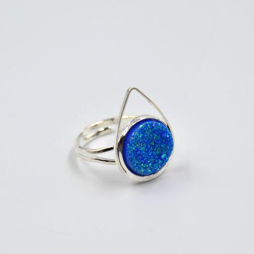Anillo Candy Gota Azul