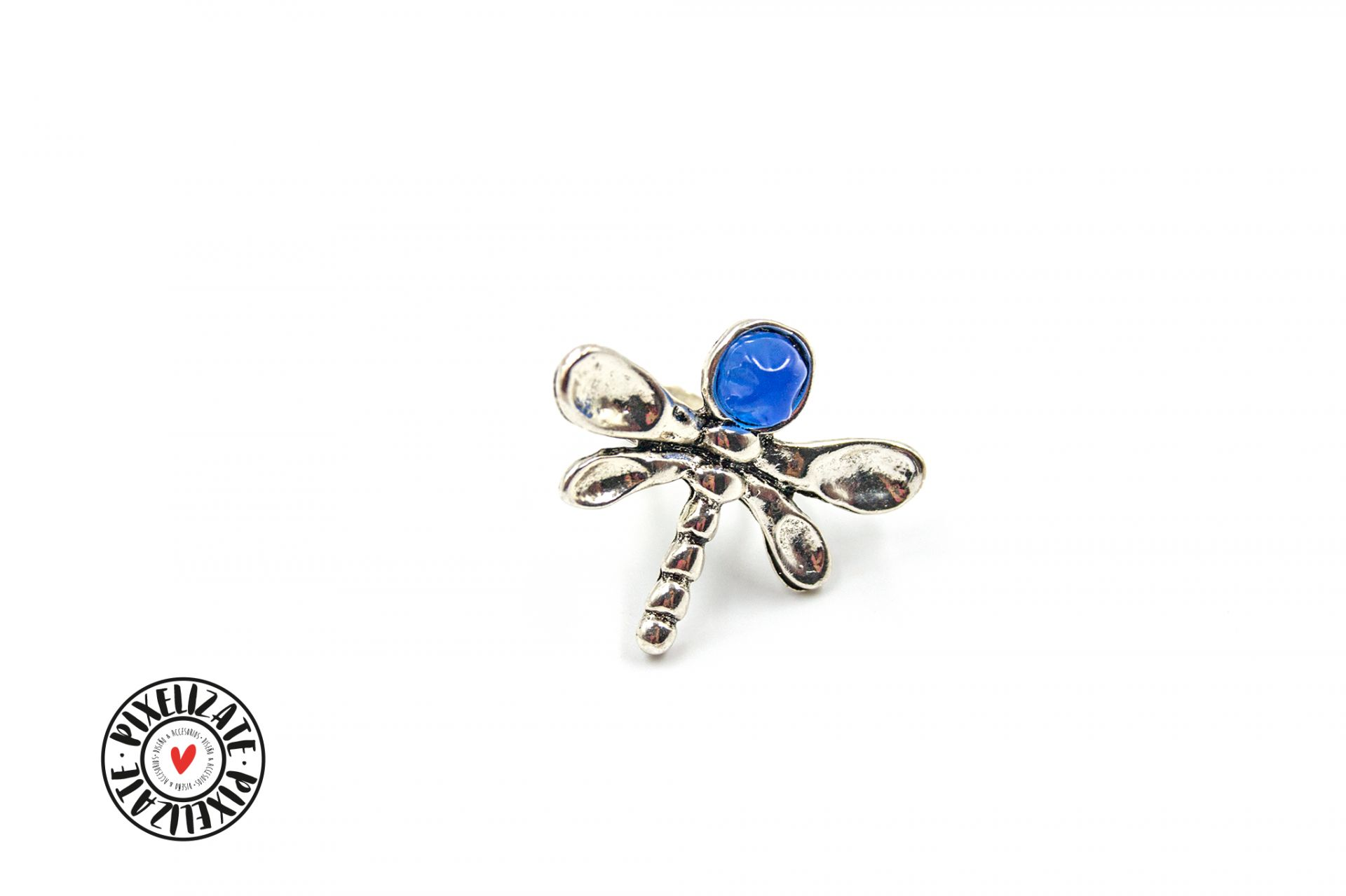 Anillo Libélula Azul