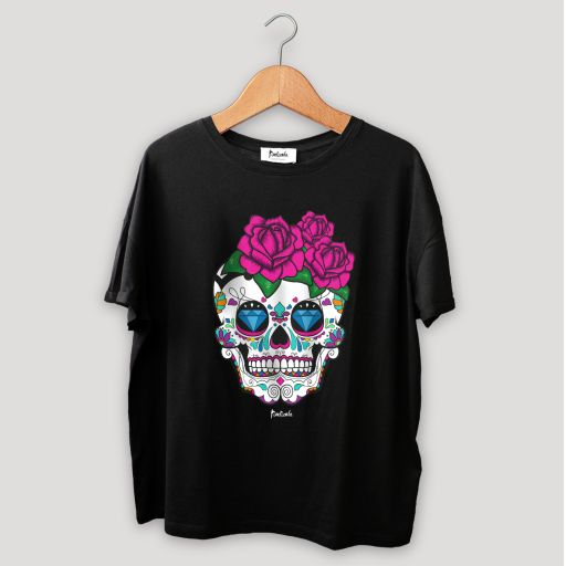 Camiseta Unisex Calavera Negro
