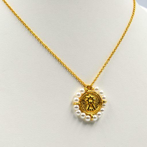 Colgante Medalla Santina Perlas [2]
