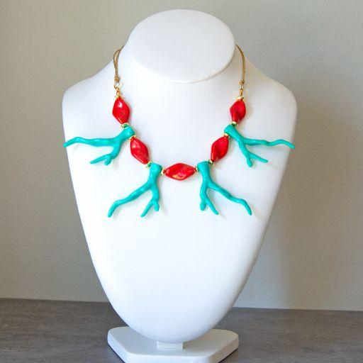 Collar Coral Turquesa