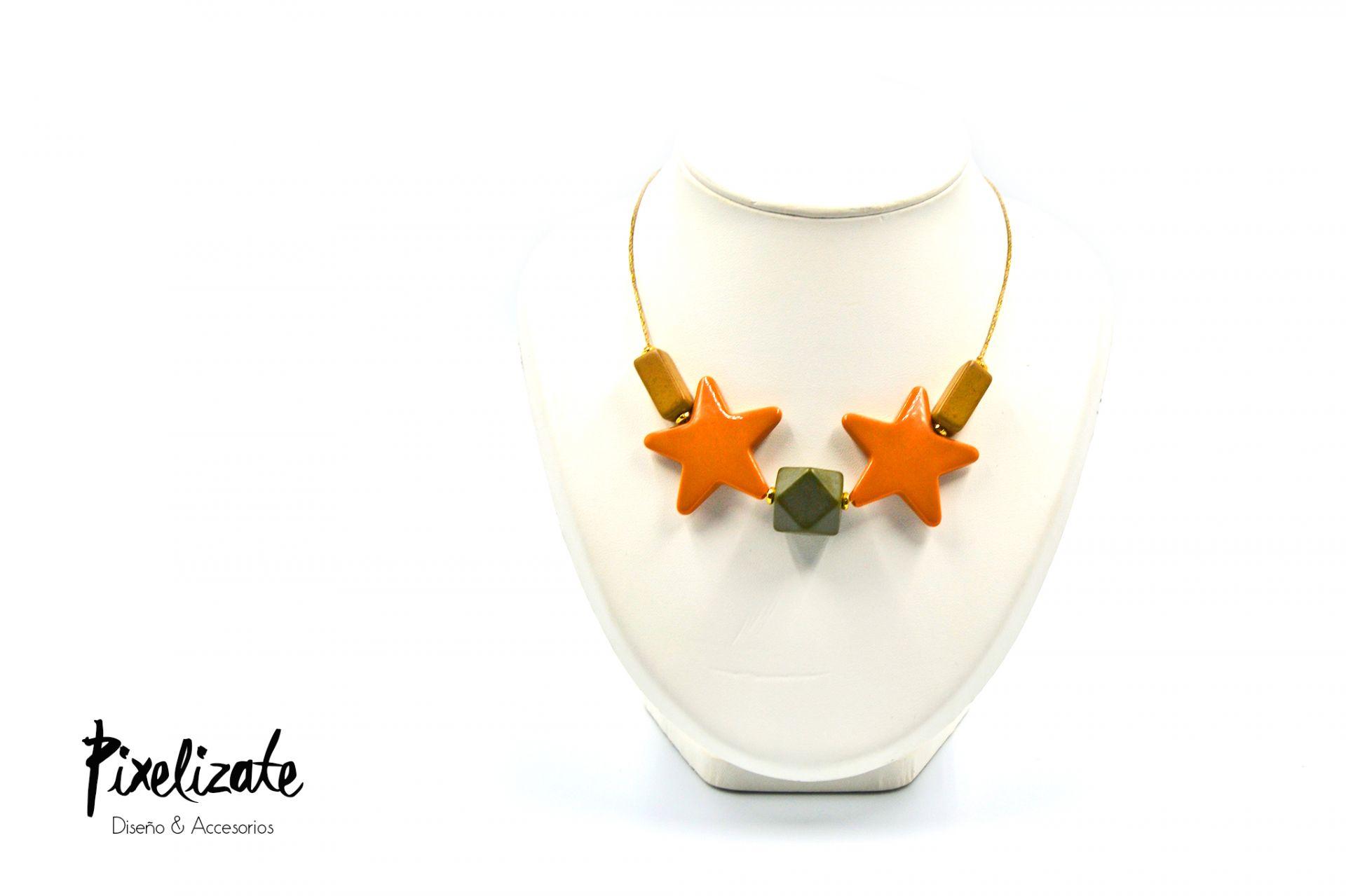 Collar Estrellas Naranja