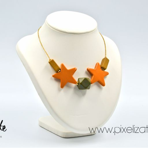 Collar Estrellas Naranja [1]