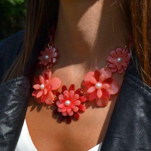 Collar Flower Power Rojo [1]