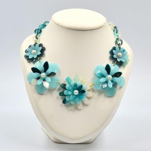 Collar Flower Power Azul