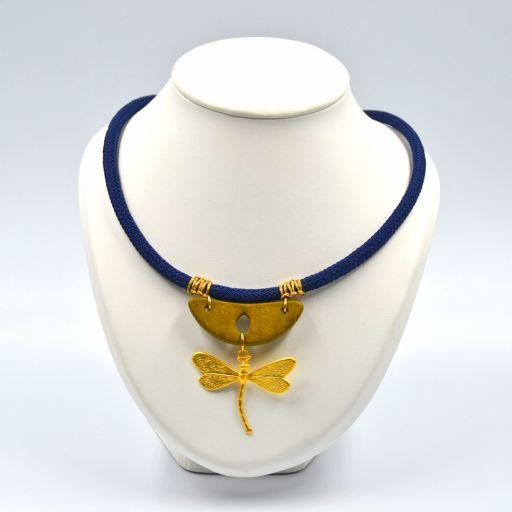 Collar Libélula Azul