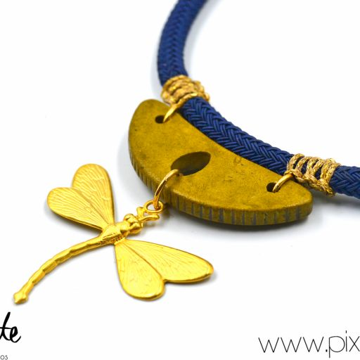 Collar Libélula Azul [2]