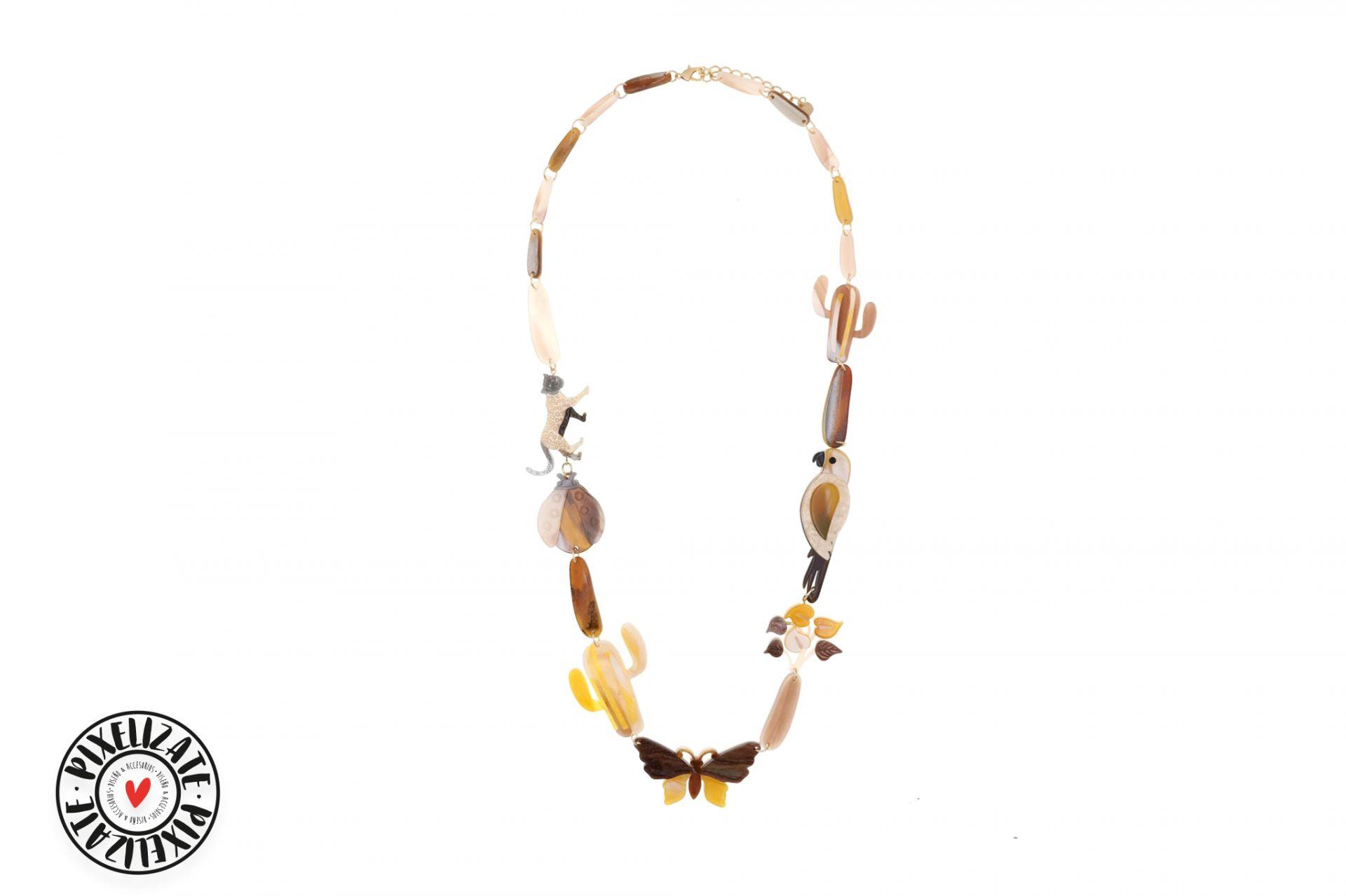 Collar Tropical Mostaza