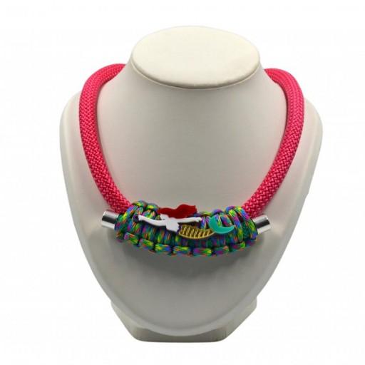 Collar Sirenita Fucsia