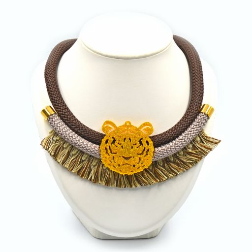 Collar Tigre Marrón
