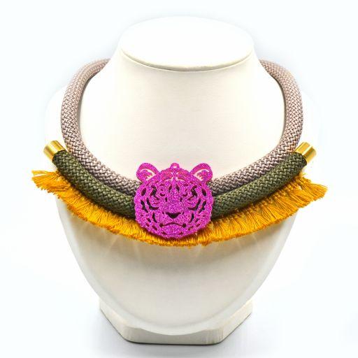 Collar Tigre Mostaza
