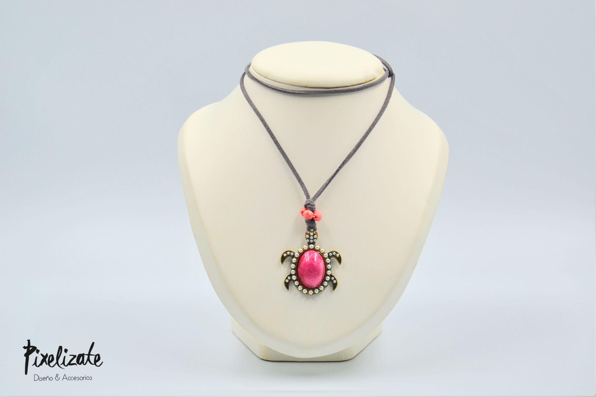 Collar Tortuga Rosa