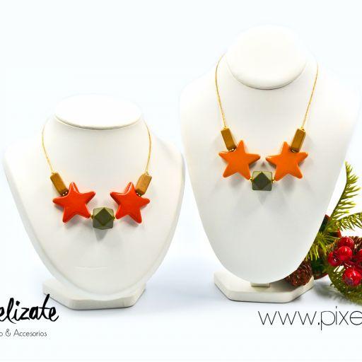 Collar Estrellas Naranja [2]