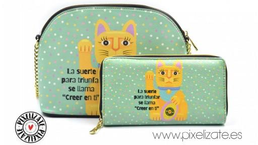 Monedero Grande Lucky Cat [3]
