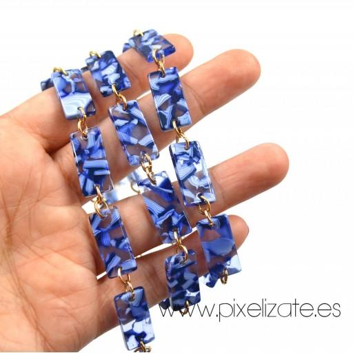 Cadena Cuelgagafas Marmol Azul [3]