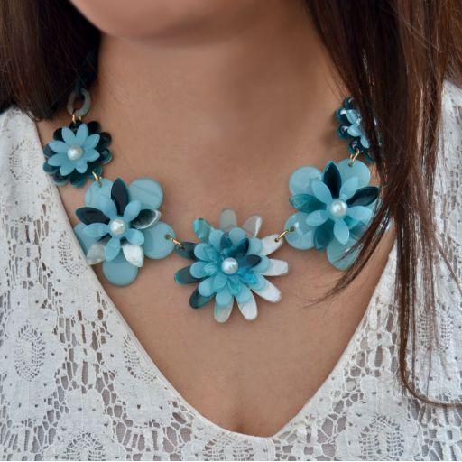 Collar Flower Power Azul [2]