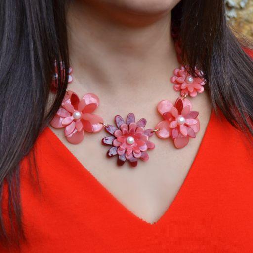 Collar Flower Power Rojo [2]
