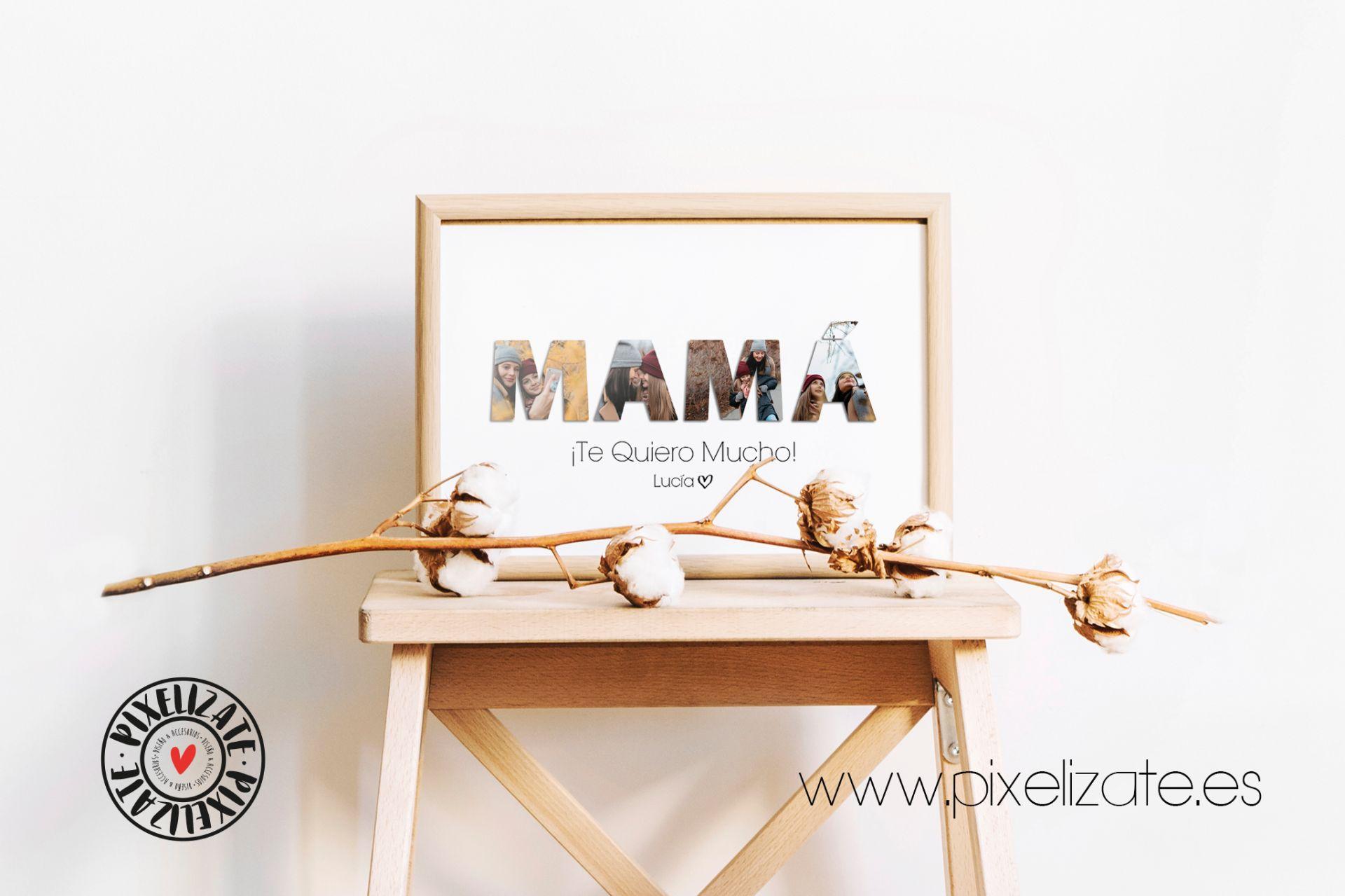 Lámina Impresa Personalizada Mamá