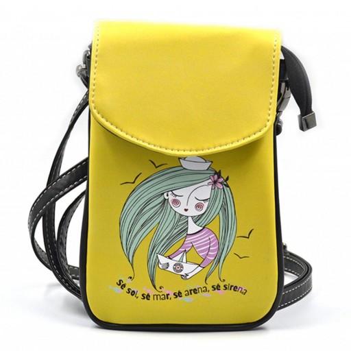 Mini Bolso para Móvil Sirena