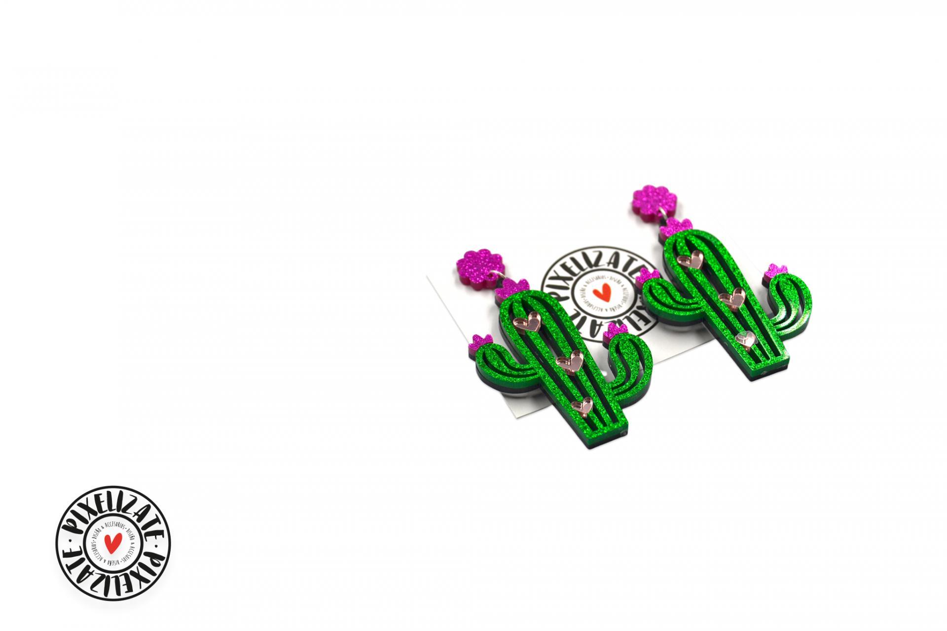 Pendientes Cactus