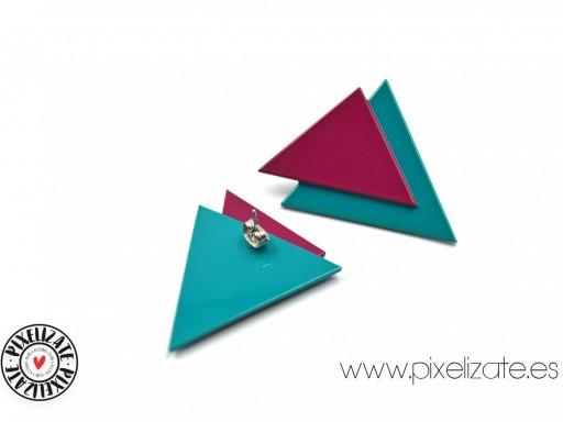 Pendientes Geometric Buganvilla/Turquesa [1]