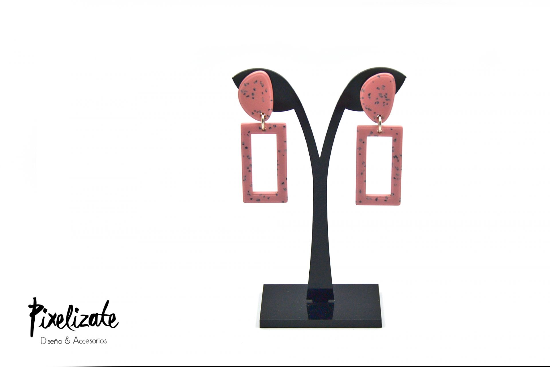 Pendientes Granito Rosa