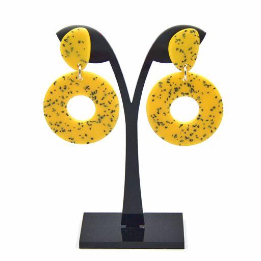 Pendientes Donut Granito Amarillo
