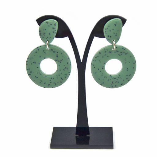 Pendientes Donut Granito Verde
