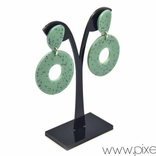 Pendientes Donut Granito Verde  [1]