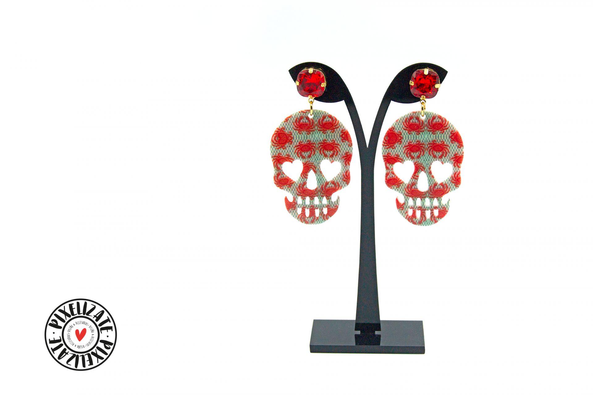 Pendientes Skull Cangrejos