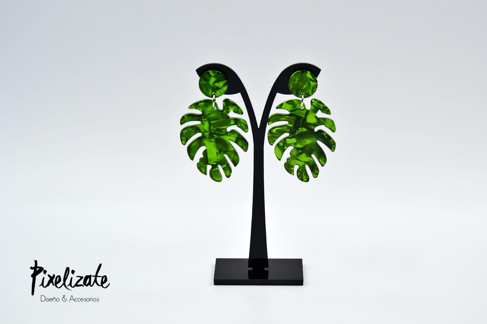 Pendientes Palm Green