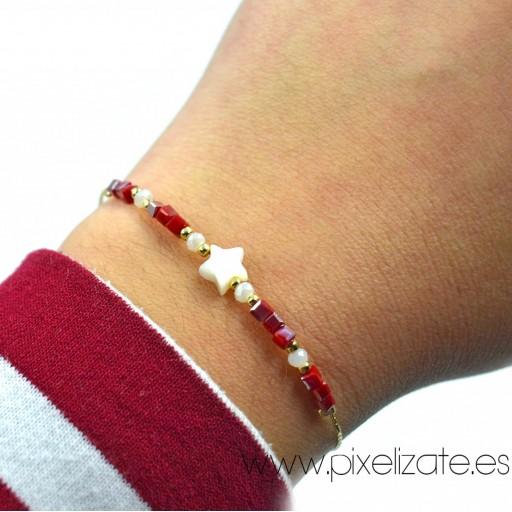 Pulsera Estrella Rojo [1]