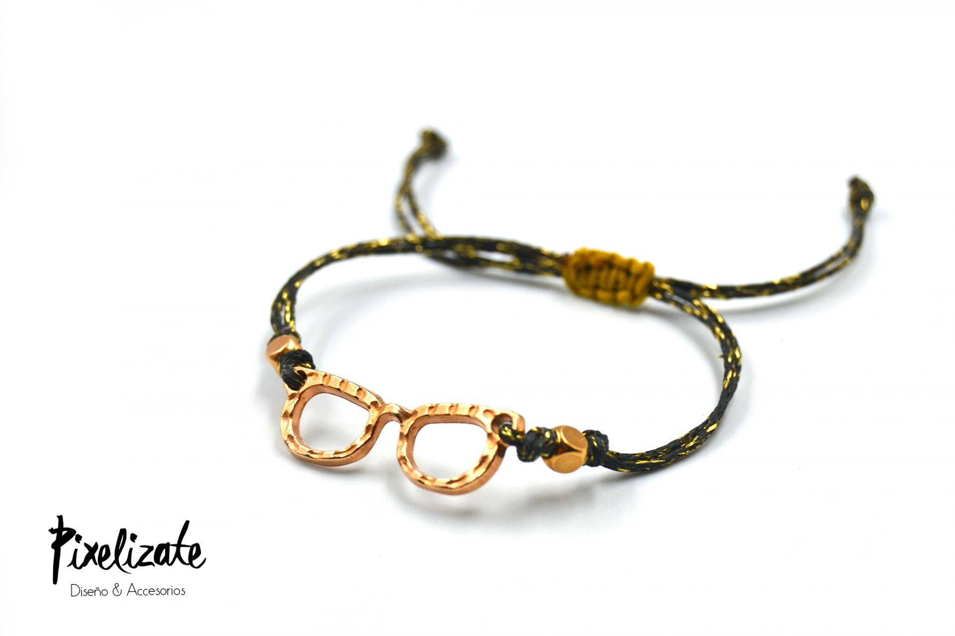 Pulsera Gafas Oro Rosa
