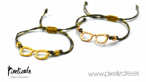 Pulsera Gafas Oro Rosa [1]