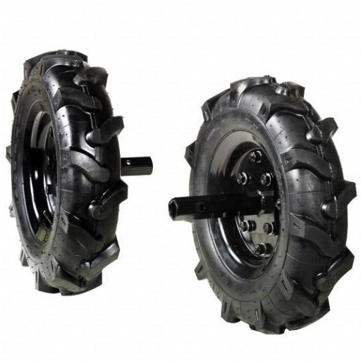 Juego de ruedas neumáticas para Oleo Mac MH 198 RK.
