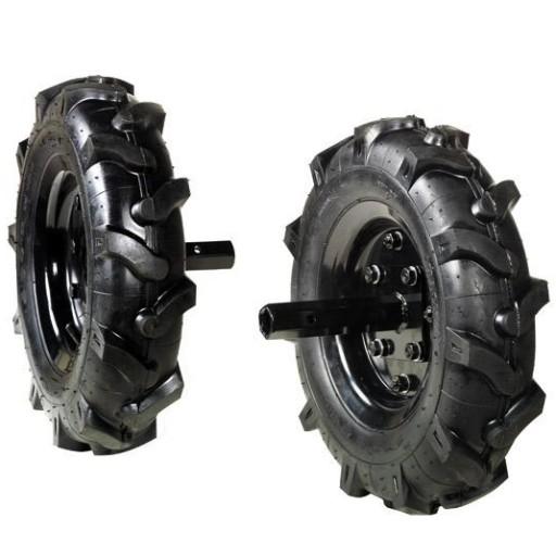Juego de ruedas neumáticas para Oleo Mac MH 210 R.