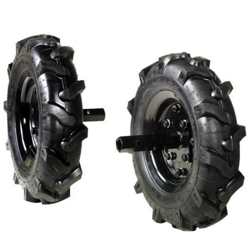 Juego de ruedas neumáticas 500 x 120 para Oleo Mac MH 210 R.