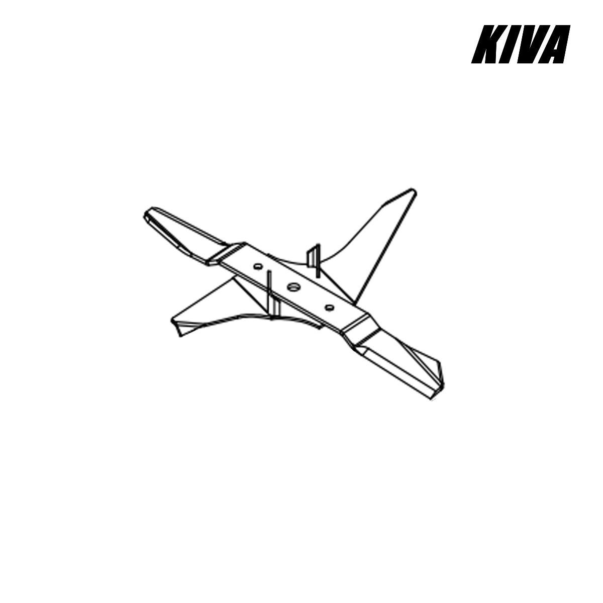 Kit cuchilla + impulsor para desbrozadora KIVA Orion R.