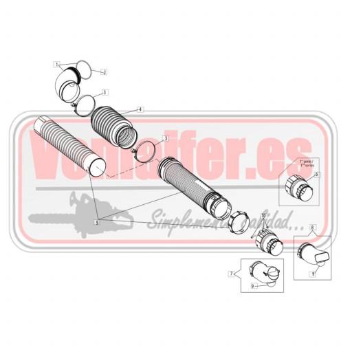 Despiece tubo soplador OM BV901