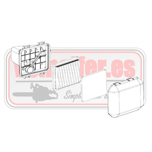 Caja filtro aire completa Motor Emak K 800
