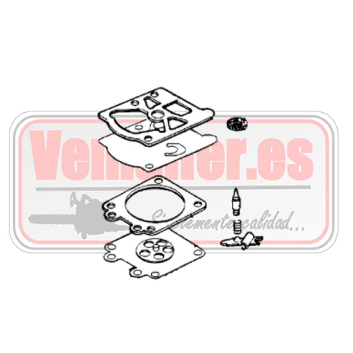 Juego membranas carburador Oleo Mac GS 350