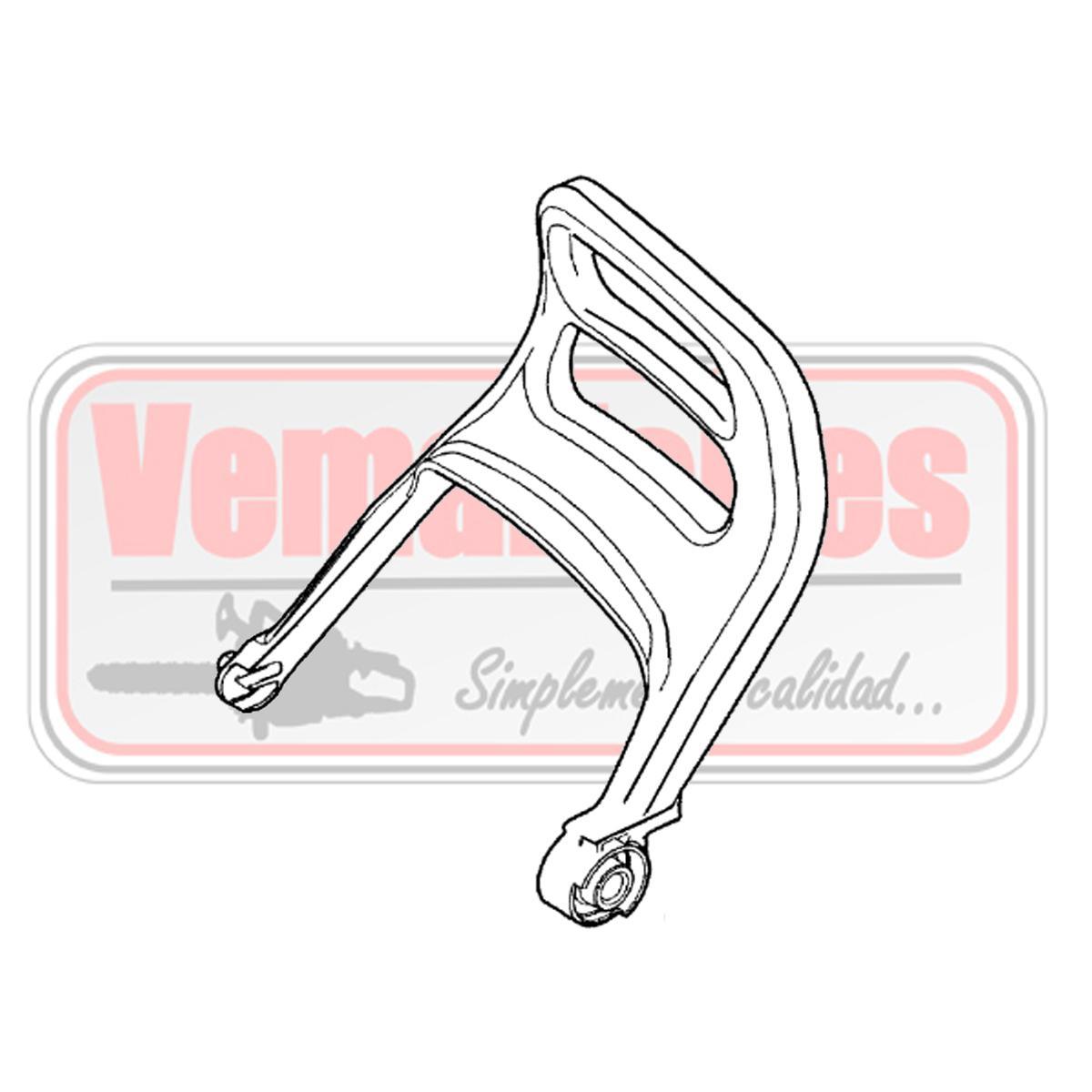 Palanca de freno / protector Oleo Mac GS 350 C / 35.